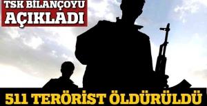 TSK: Hakkari'den toplam 511 terörist öldürüldü