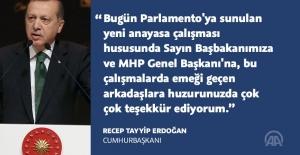 CumhurbaşkanıErdoğan, Meclis'e sunulan Anayasa değişikliği teklifini değerlendirdi