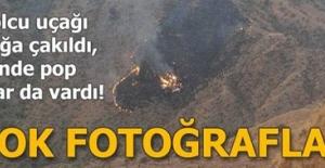 İçerisinde pop starın da bulunduğu uçak dağa çakıldı! İşte ilk fotoğraflar.