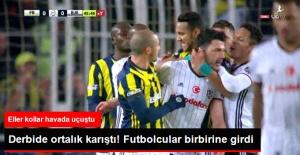 İlk Yarının Sonlarında F.Bahçe ve Beşiktaşlı Oyuncular Birbirine Girdi