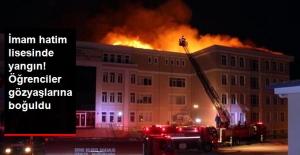 İmam Hatip Lisesi'nin Çatısı Yangın Çıktı!