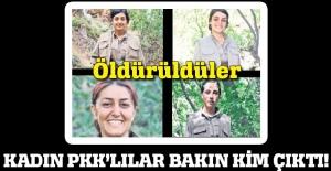 Öldürülen 4 PKK'lı kadın bakın kim çıktı!