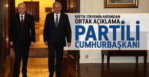 Partili Cumhurbaşkanı açıklaması