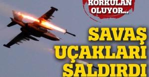Son dakika... Suriye'de savaş uçakları birçok kez bombaladı
