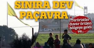 Terör örgütü PYD, Akçakale sınırına yeni bayrak astı