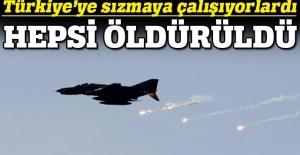 TSK, Türkiye'ye sızmaya çalışan teröristleri havadan vurdu