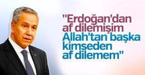 Arınç, 'Erdoğan'dan af diledi' iddiasını yalanladı