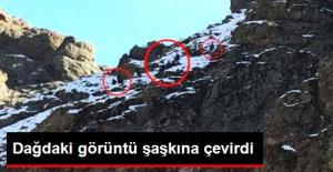Gümüşhane'de Oynanan Maçı Taraftarlar, Dağların Tepesinden Takip Etti