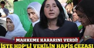 HDP'li Nursel Aydoğan'a 4 yıl 8 ay hapis!