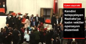 Kendini Meclis Kürsüsüne Kelepçeleyen Nazlıaka'ya Müdahale Edildi