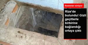 Rize'de Gizli Geçitle Ulaşılan 2 Kaçak Silah İmalathanesi Bulundu