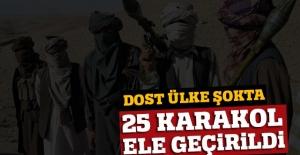 'Taliban, Afganistan'da 25 karakolu ele geçirdi' iddiası