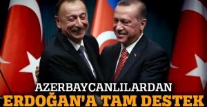 Azerbaycanlılardan terörle mücadelede Erdoğan'a destek açıklaması