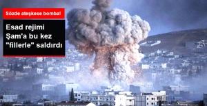 Esad Rejimi Şam'daki Sivilleri Bu Kez 'Fil Füzeleriyle' Vurdu