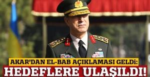 Hulusi Akar'dan El Bab açıklaması