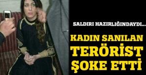 Kadın kılığına giren terörist yakalandı