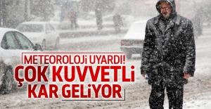 Meteoroloji'den kar yağış uyarısı!