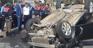 MHP konvoyunda kaza, yaralılar var!