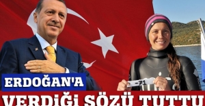 Milli yüzücü: Cumhurbaşkanı Erdoğan'a verdiğim sözü tuttum