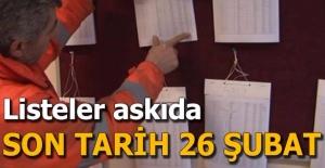 Seçmen listeleri askıya çıktı: Son tarih 26 Şubat