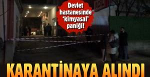 Sultanbeyli Devlet Hastanesi'nde 'kimyasal zehirlenme' karantinası