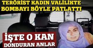 Terörist kadın valilikte bombayı böyle patlattı