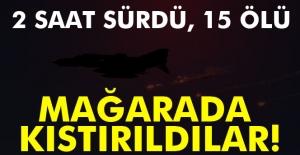 TSK: Mağarada tespit edilen 15 terörist öldürüldü
