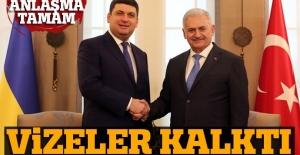 Başbakan açıkladı: Ukrayna ile anlaşma mzalandı, vizeler kalktı