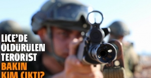 Lice'de öldürülen terörist bakın kim çıktı