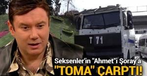 Oyuncu Şoray Uzun'un otomobiline TOMA çarptı