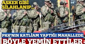 PKK'nın katliam yaptığı mahallede korucular yemin etti
