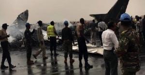 Sudan'da düşen yolcu uçağında 14 kişi yaralandı