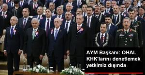 AYM Başkanı Arslan: OHAL KHK'larını Denetlemek Yetkimiz Dışında
