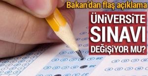 Bakan Yılmaz: Üniversiteye giriş tek sınav üzerinden olmamalı