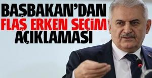Başbakan Yıldırım'dan erken seçim açıklaması
