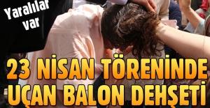 Batman'da 23 Nisan töreninde 'uçan balon' dehşeti: 8 yaralı