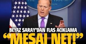 Beyaz Saray'dan flaş açıklama: Mesaj net!