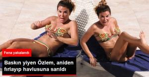 Bikinili Yakalanan Özlem Yıldız Gazetecileri...