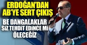 Cumhurbaşkanı Erdoğan'dan AB'ye: Be dangalaklar