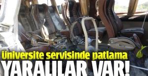 İstanbul'da bir minibüste patlama oldu, yaralılar var