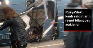 Rusya'nın St. Petersburg Kentindeki Çifte Terör Saldırısında Bilanço Açıklandı