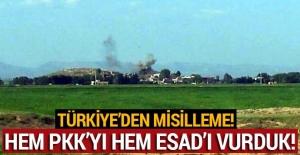 TSK, Afrin'deki PKK'lı teröristler ile Esad askerlerine misliyle karşılık verdi