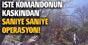 Tunceli'de 4 PKK'lının teslim olma anı askerin kask kamerası tarafından kaydedildi