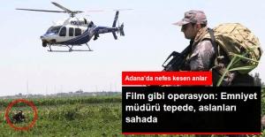 Adana'da Film Gibi Uyuşturucu Operasyonu: Emniyet Müdürü Helikopterden Takip Etti