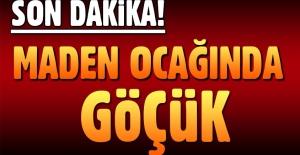 Antalya'da maden ocağında göçük