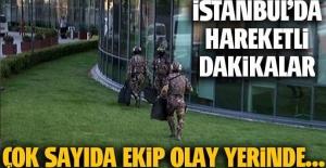 Ataşehir'de lüks rezidans önünde hareketli dakikalar