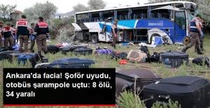 Facia! Şoför Uyudu, Otobüs Şarampole Uçtu: 8 Ölü, 32 Yaralı