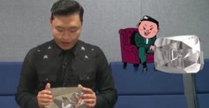 'Gangnam Style' ile ünlenen Psy'ya 'Elmas tuş'  .