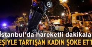 İstanbul'da şoke eden olay... Eşiyle tartıştı, otomobilini denize attı...