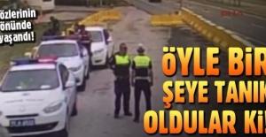 İzmir'de polis uygulama noktasında kaza